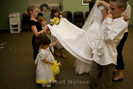 Maddie Quayle, Dave Scott wedding.Monday August 3, 2009 in South Jordan. drew, parker, camilla wickman, nathaniel nelson