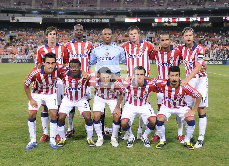 Chivas USA Staring Eleven.  Chivas USA defeated DC United 2-0  at RFK Stadium, Saturday October 3, 2009.
