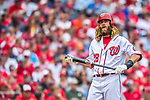 3 April 2017: Washington Nationals outfielder Jayson Werth steps up to the plate during play against the Miami Marlins on Opening Day at Nationals Park in Washington, DC. The Nationals defeated the Marlins 4-2 to open the 2017 MLB Season. Mandatory Credit: Ed Wolfstein Photo *** RAW (NEF) Image File Available ***