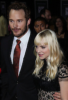 "HOLLYWOOD, CA - NOVEMBER 03: Actor Chris Pratt and Actress Anna Faris arrive at the Los Angeles Premiere Of DreamWorks Pictures' ""Delivery Man"" held at the El Capitan Theatre on November 3, 2013 in Hollywood, California. (Photo by Xavier Collin/Celebrity Monitor)"