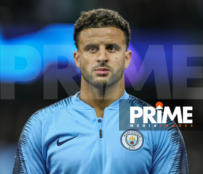 Kyle WALKER  of Manchester City during the UEFA Champions League match between Manchester City and Olympique Lyonnais at the Etihad Stadium, Manchester, England on 19 September 2018. Photo by David Horn / PRiME Media Images.