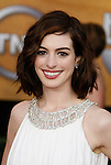 LOS ANGELES, CA. - January 25: Actress Anne Hathaway arrives at the 15th Annual Screen Actors Guild Awards held at the Shrine Auditorium on January 25, 2009 in Los Angeles, California.