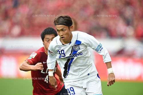 (L-R) Mitsuo Ogasawara (Antlers), Takashi Usami (Gamba), <br /> OCTOBER 31, 2015 - Football / Soccer : <br /> 2015 J.League Yamazaki Nabisco Cup <br /> final match between Kashima Antlers 3-0 Gamba Osaka <br /> at Saitama Stadium 2002 in Saitama, Japan. <br /> (Photo by AFLO SPORT)