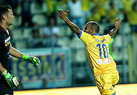 Esultanza Danilo Soddimo durante l'incontro di calcio di Serie A   Frosinone - Torino  allo  Stadio Matusa di   di Frosinone ,23 Agosto 2015
