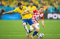 Oscar of Brazil and Luka Modric of Croatia