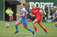 Portland, OR - Saturday April 29, 2017: Kathleen Naughton, Allie Long during a regular season National Women's Soccer League (NWSL) match between the Portland Thorns FC and the Chicago Red Stars at Providence Park.
