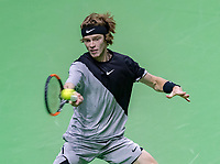 Rotterdam, The Netherlands, 16 Februari, 2018, ABNAMRO World Tennis Tournament, Ahoy, Andrey Rublev (RUS)<br /> <br /> Photo: www.tennisimages.com