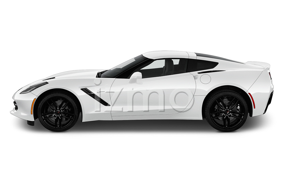 Car Driver side profile view of a 2019 Chevrolet Corvette-Stingray 3LT 2 Door Coupe Side View
