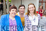 Ellen O'Keeffe, Mary O'Rourke and Annette Hayes enjoying  the Spraoi concert in Killarney on Saturday
