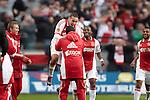 Nederland, Amsterdam, 25 maart 2012.Eredivisie.Seizoen 2011-2012.Ajax-PSV 2-0.Ismail Aissati van Ajax juicht na het scoren van de 1-0
