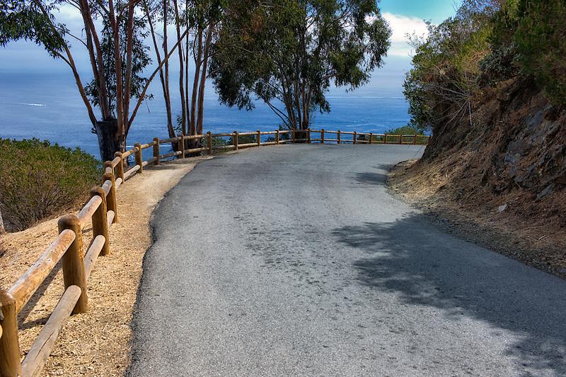 Road around Catalina Island, California