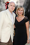 """Actor Jeffrey Tambor and wife Kasia Ostlun arrive at the 2008 Los Angeles Film Festival's """"HellBoy: II The Golden Army"""" Premiere at the Mann Village Westwood Theater on June 28, 2008 in Westwood, California."""