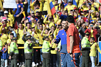 BOGOTA - COLOMBIA, 05-07-2018: Radamel FALCAO GARCIA, Camilo VARGAS jugadores de la Selección Colombia de fútbol reciben un homenaje hoy, 05 de julio de 2018, después de su participación en la Copa Mundial de la FIFA Rusia 2018. El acto tuvo lugar een el estadio Nemesio Camacho El Campín de la ciudad de Bogotá / Radamel FALCAO GARCIA, Camilo VARGAS players of Colombia national soccer team receives tribute today, July 5, 2018, after their participation in the FIFA World Cup Russia 2018. The event took place at Nemesio Camacho El Campin stadium in Bogota city. Photo: VizzorImage / Gabriel Aponte / Staff