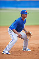 Toronto Blue Jays Bryan Lizardo (6) during an instructional league game against the Philadelphia Phillies on September 28, 2015 at the Englebert Complex in Dunedin, Florida.  (Mike Janes/Four Seam Images)