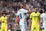 Real Madrid's Karim Benzema during the match of La Liga between Real Madrid  and Villarreal Club de Futbol at Santiago Bernabeu Estadium in Madrid. September 21, 2016. (ALTERPHOTOS/Rodrigo Jimenez)