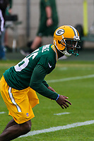 Green Bay Packers cornerback Raysean Pringle (46) during an Organized Team Activity on May 23, 2017 at Clarke Hinkle Field in Green Bay, Wisconsin.  (Brad Krause/Krause Sports Photography)