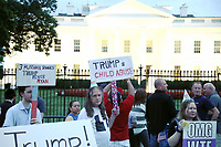 WASHINGTON, DC - AUGUST 7: Protestors gather to rally against President Trump across from The White House in Washington, D.C. on August 7, 2018. <br /> CAP/MPI34<br /> &copy;MPI34/Capital Pictures