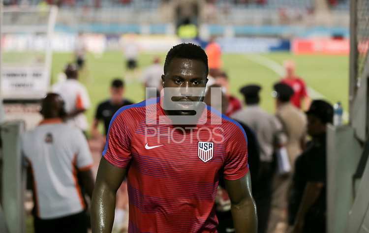 Couva, Trinidad & Tobago - Tuesday Oct. 10, 2017: Jozy Altidore during a 2018 FIFA World Cup Qualifier between the men's national teams of the United States (USA) and Trinidad & Tobago (TRI) at Ato Boldon Stadium.