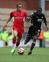 Andros Townsend of Leyton Orient and Myles Weston of Brentford