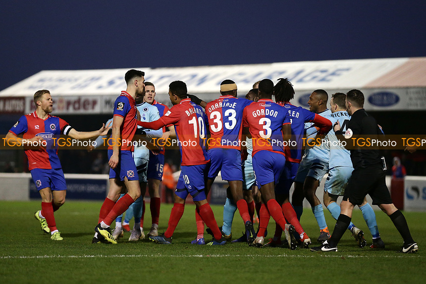 Tempers flare during Dagenham & Redbridge vs Boreham Wood, Vanarama National League Football at the Chigwell Construction Stadium on 5th January 2019