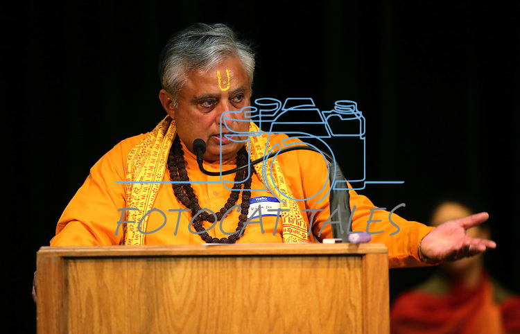 Rajan Zed, president of the Universal Society of Hinduism, speaks at the Western Nevada College Multi-Faith Baccalaureate service at the Community Center in Carson City, Nev., on Monday, May 20, 2013. .Photo by Cathleen Allison