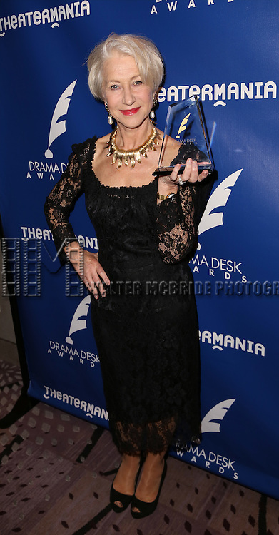 Helen Mirren visits the 2015 Drama Desk Awards Media Room at Marriott Marquis Times Square on May 31, 2015 in New York City.