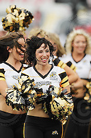 July 12, 2008; Hamilton, ON, CAN; Hamilton Tiger-Cats cheerleaders prior to the CFL football game against the Saskatchewan Roughriders at Ivor Wynne Stadium. The Roughriders defeated the Tiger-Cats 33-28. Mandatory Credit: Ron Scheffler.