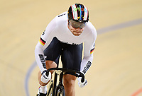 Picture by Alex Broadway/SWpix.com - 02/03/2018 - Cycling - 2018 UCI Track Cycling World Championships, Day 3 - Omnisport, Apeldoorn, Netherlands - Maximillian Levy of Germany competes in the Men's Sprint 1/16 Finals.