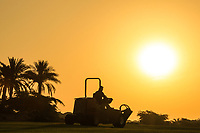 Greenstaff in action at sunrise during round 2, Ras Al Khaimah Challenge Tour Grand Final played at Al Hamra Golf Club, Ras Al Khaimah, UAE. 01/11/2018<br /> Picture: Golffile | Phil Inglis<br /> <br /> All photo usage must carry mandatory copyright credit (&copy; Golffile | Phil Inglis)