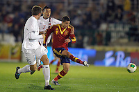 Spain's Rodrigo (r) and Norway's Tollas Nation (l) and Singh during international sub21 match.March 21,2013. (ALTERPHOTOS/Acero) /NortePhoto