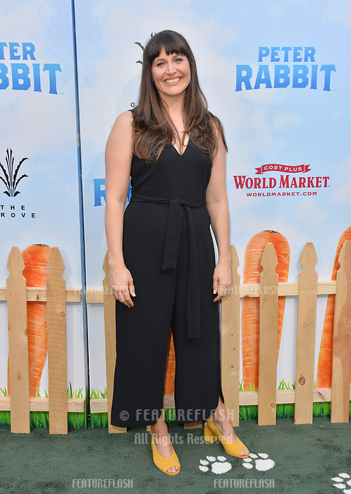 Jodi Hildebrand at the world premiere for &quot;Peter Rabbit&quot; at The Grove, Los Angeles, USA 03 Feb. 2018<br /> Picture: Paul Smith/Featureflash/SilverHub 0208 004 5359 sales@silverhubmedia.com