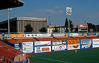 Ballparks: Portland Civic Stadium. A short 339' to left power alley & 309' to left field foul line. The roof is recent. Left field bleachers condemned.