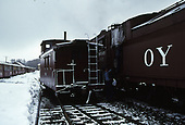 C&amp;TS caboose #0503 beside rotary snowplow #OY at Chama.<br /> C&amp;TS  Chama, NM