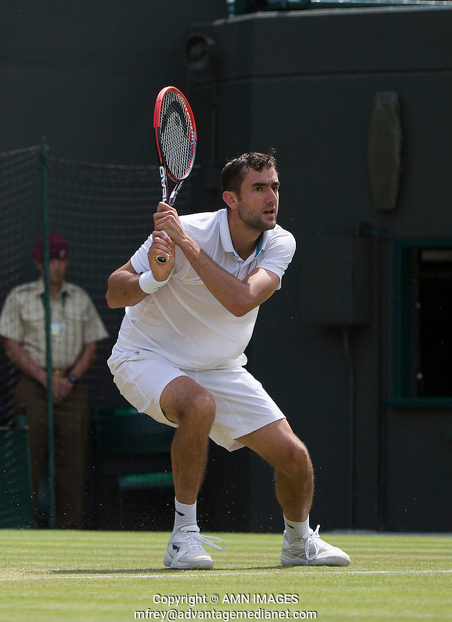MARIN CILIC (CRO)<br /> <br /> The Championships Wimbledon 2014 - The All England Lawn Tennis Club -  London - UK -  ATP - ITF - WTA-2014  - Grand Slam - Great Britain -  2nd July 2014. <br /> <br /> &copy; AMN IMAGES