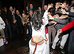 "Catherine Ricafort  and cast during The Opening Night Actors' Equity Gypsy Robe Ceremony honoring Catherine Ricafort for the New Broadway Production of  ""Miss Saigon""  at the Broadway Theatre on March 23, 2017 in New York City"