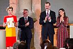 Minister of Culture and Sport Jose Girao, King Felipe VI of Spain, designer Agatha Ruiz de la Prada and Queen Letizia of Spain attend the National Culture Awards at El Prado Museum on March 19, 2019 in Madrid, Spain.  (ALTERPHOTOS/Alconada)
