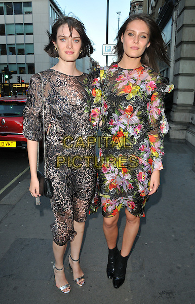 Sam Rollinson &amp; Charlotte Wiggins at the Daisy Lowe x W Hotel Dubai dinner, 93 Mortimer Street, Mortimer Street, London, England, UK, on Wednesday 20 July 2016.<br /> CAP/CAN<br /> &copy;CAN/Capital Pictures