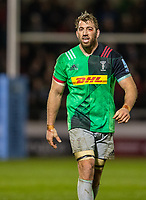 3rd January 2020; AJ Bell Stadium, Salford, Lancashire, England; English Premiership Rugby, Sale Sharks versus Harlequins; Chris Robshaw of Harlequins with a bloody eye - Editorial Use