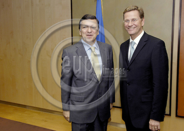 Brussels-Belgium - 02 July 2008---Jose (José) Manuel BARROSO (le), President of the European Commission,  receives Guido WESTERWELLE (ri) leader of the liberal party Free Democratic Party of Germany (FDP)---Photo: Horst Wagner / eup-images