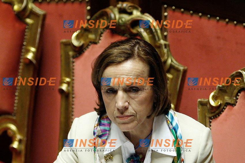 Il Ministro per il Lavoro e le Politiche Sociali Elsa Fornero.Roma 31/05/2012 Senato. Voto di fiducia e approvazione del disegno di legge per la riforma del mercato del lavoro..Foto OneShot  Insidefoto..