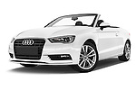 Stock pictures of low aggressive front three quarter view of a 2015 Audi A3 Ambition 2 Door Convertible 2WD Low Aggressive