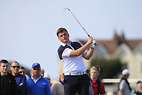 James Sugrue (GB&I) on the 2nd tee during Day 2 Singles at the Walker Cup, Royal Liverpool Golf CLub, Hoylake, Cheshire, England. 08/09/2019.<br /> Picture Thos Caffrey / Golffile.ie<br /> <br /> All photo usage must carry mandatory copyright credit (© Golffile | Thos Caffrey)