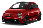 2018 Abarth 595 C Competizione 2 Door Convertible angular front stock photos of front three quarter view