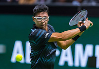 Rotterdam, The Netherlands, 11 Februari 2019, ABNAMRO World Tennis Tournament, Ahoy, first round singles: Hyeon Chung (KOR) <br /> Photo: www.tennisimages.com/Henk Koster