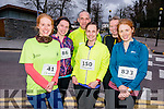 L-R Tina Browne, Jenny Dineen, Brian Harte, Aine Harte, Catriona Lehane and Linda Lehane at the Good Friday 5 miles run in Killarney last Friday.