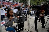 Este jueves 21 de junio del 2018 se realiz&oacute; una manifestaci&oacute;n en la Embajada de los Estados Unidos de Norteam&eacute;rica para protestar por el trato a ni&ntilde;os y adultos migrantes en la frontera de M&eacute;xico-Estados Unidos. <br /> Obture Press Agency/Foto/&copy;J.F. Carrera/Ciudad de M&eacute;xico