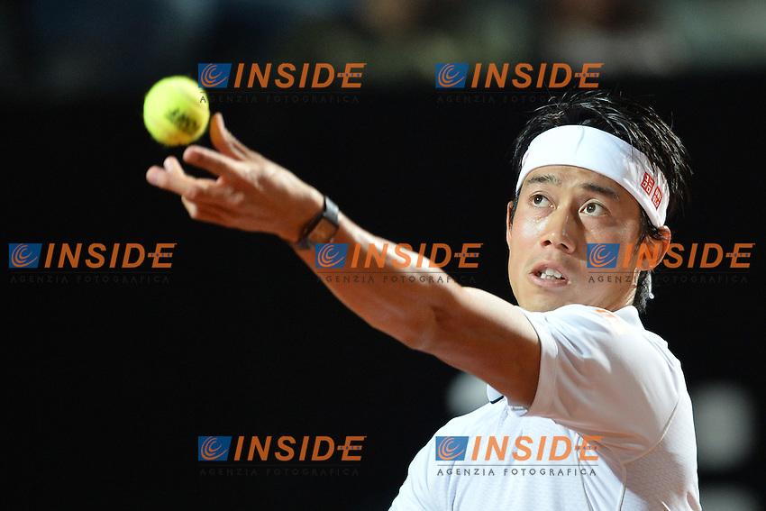 Kei Nishikori (JPN)<br /> Roma 13-05-2016  Foro Italico<br /> Internazionali BNL d'Italia, <br /> Tennis ATP<br /> Foto Antonietta Baldassarre / Insidefoto