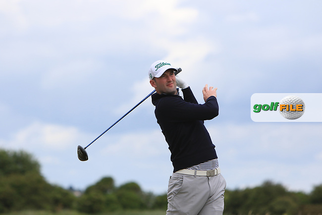 Barry Anderson (The Royal Dubin) on the 2nd tee during Round 3 of the East of Ireland Amateur Open Championship at Co. Louth Golf Club in Baltray on Sunday 4th June 2017.<br /> Photo: Golffile / Thos Caffrey.<br /> <br /> All photo usage must carry mandatory copyright credit     (&copy; Golffile   Thos Caffrey)