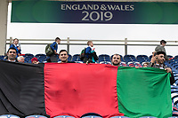 Afghanistan  fans hold up their flags during Afghanistan vs Sri Lanka, ICC World Cup Cricket at Sophia Gardens Cardiff on 4th June 2019
