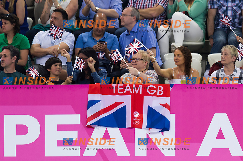Supporters<br /> London, Queen Elizabeth II Olympic Park Pool <br /> LEN 2016 European Aquatics Elite Championships <br /> Diving<br /> Men's 3m springboard final <br /> Day 04 12-05-2016<br /> Photo Giorgio Perottino/Deepbluemedia/Insidefoto